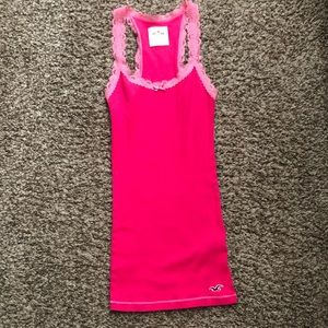 Hollister Pink Ribbed Tank